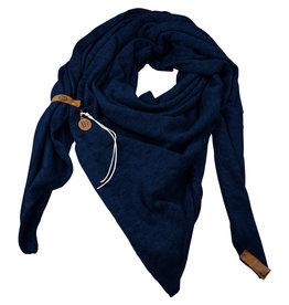 Lot83  Sjaal Fien Navy blauw