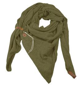 Lot83  Sjaal Fien olijf groen