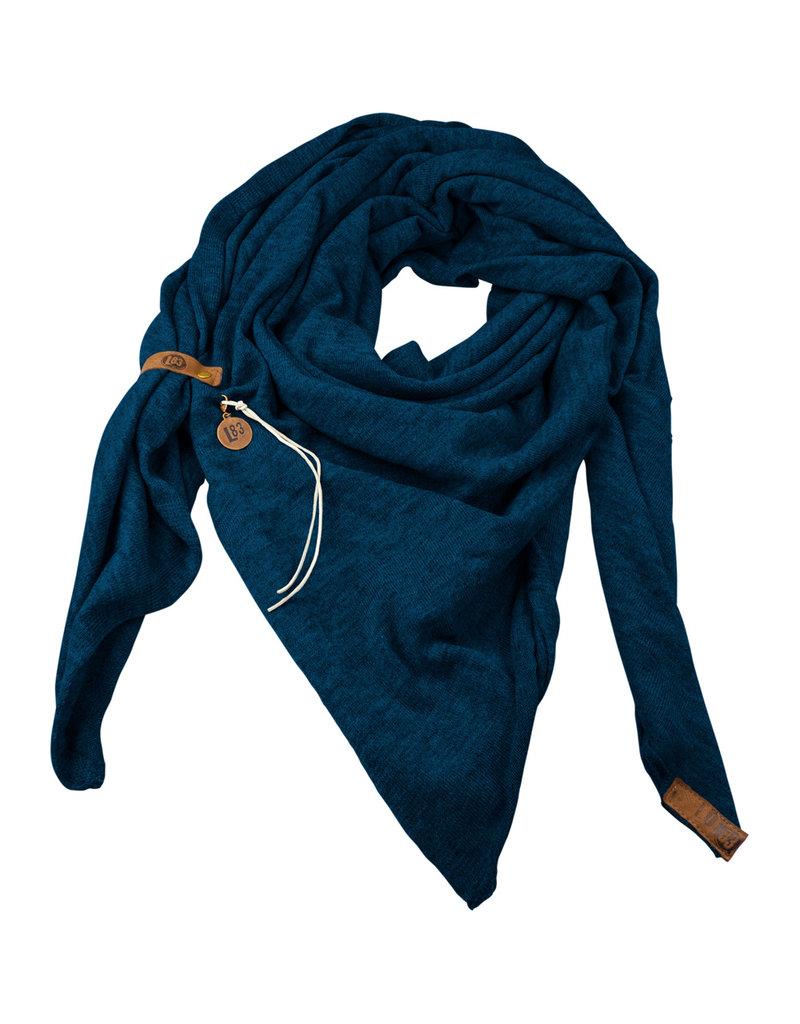 Lot83  Sjaal Fien petrol blauw