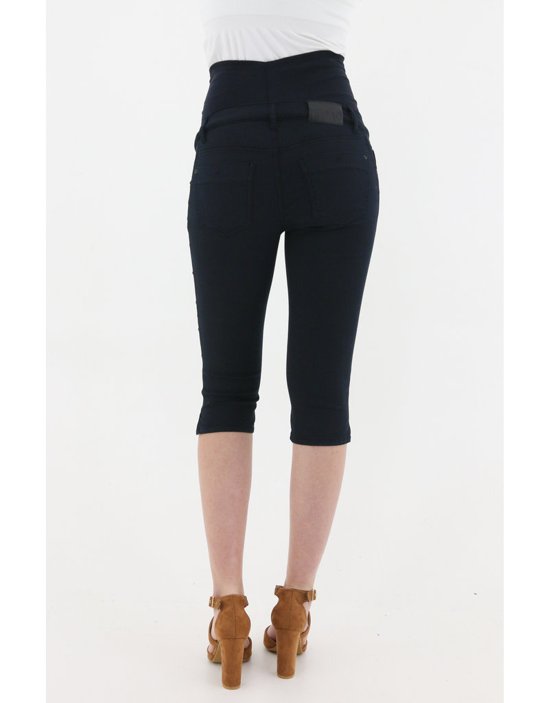 Love2Wait Love2Wait jeans capri powerstretch navy C211046