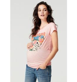 Supermom Supermom zwangerschapsshirt Wild Flower roze