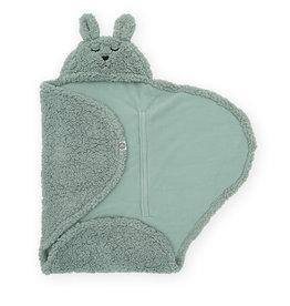 Jollein Jollein Wikkeldeken fluffy Bunny Wrap Ash green