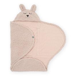Jollein Jollein Wikkeldeken fluffy Bunny Wrap Pale Pink