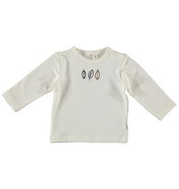BESS Babykleding Bess Baby Shirtje Leaves Organic wit