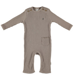 BESS Babykleding Bess Baby Suit Rib Organic Sand