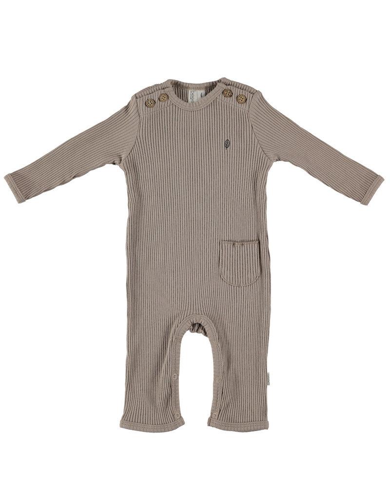 BESS Babykleding Bess Suit Rib Organic Sand BO3005 050