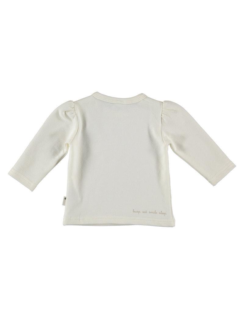 BESS Babykleding Bess Shirtje Hearts Organic wit BO3011 001