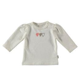 BESS Babykleding Bess Girl Shirtje Hearts Organic wit