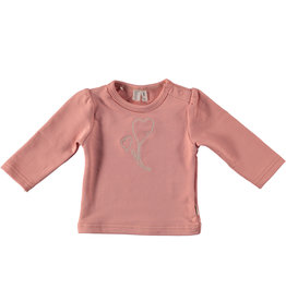 BESS Babykleding Bess Girl Shirtje Embroidery Organic dusty rose