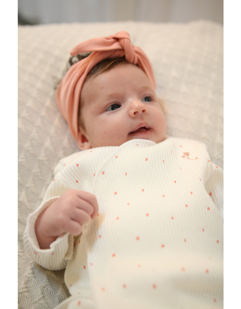 BESS Babykleding Bess Overslagtruitje Rib Dots Organic BO3010 016