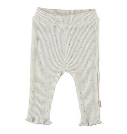 BESS Babykleding Bess Meisje Pants organic Rib Dots white