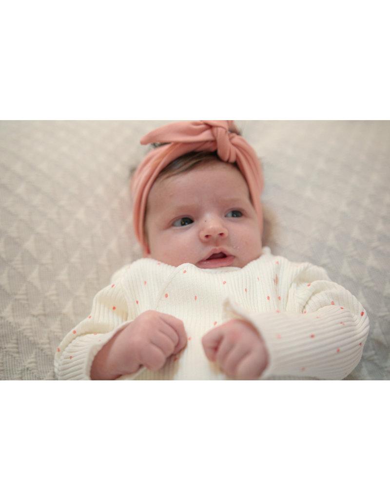 BESS Babykleding Bess Headband basic dusty rose Organic cotton BO3020 038