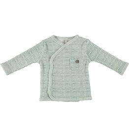 BESS Babykleding Bess Baby Overslagtruitje Rib Green striped organic cotton