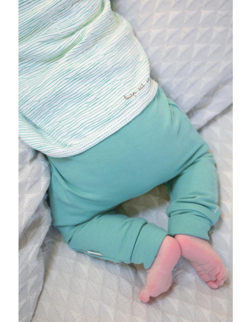 BESS Babykleding Bess Overslagtruitje Rib Green striped organic cotton BO3022 014