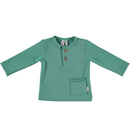 BESS Babykleding Bess Baby Shirtje Pocket Green organic cotton