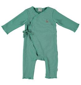 BESS Babykleding Bess Baby Suit basic Green Organic cotton