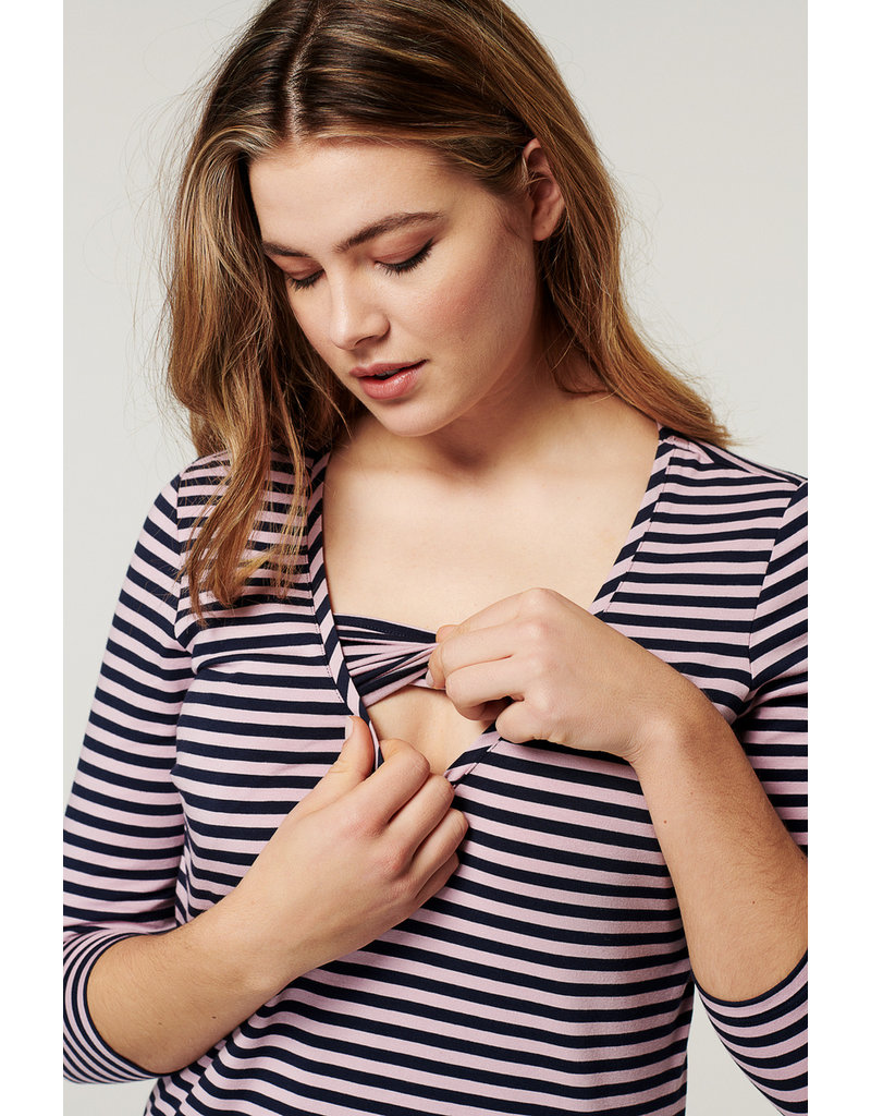 Noppies Noppies shirt & voedingsshirt gestreept Griffin 1070020 P800