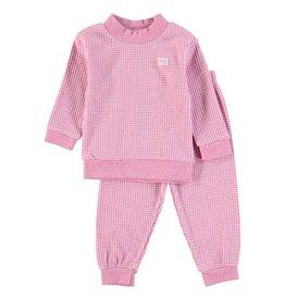 Feetje Baby Feetje Pyjama wafel Roze melange