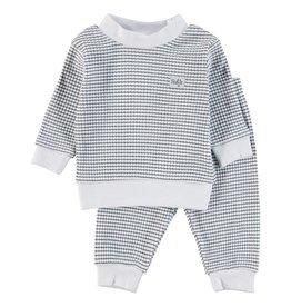 Feetje Baby Feetje Pyjama wafel Classic Blauw / Wit