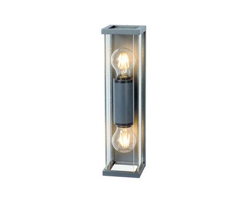 Light Gallery Meribel wandlamp smal 2xE27 donkergrijs