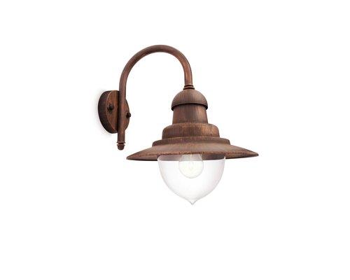 Philips Raindrop wandlamp 1xE27/60W brons