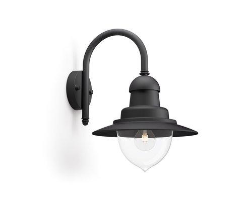 Philips Raindrop wandlamp 1xE27/60W zwart