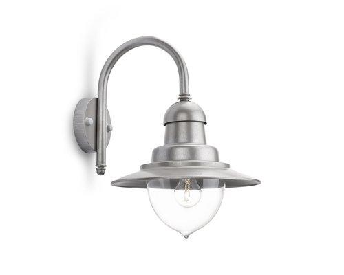 Philips Raindrop wandlamp 1x E27/60W grijs