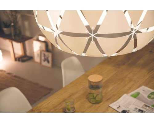 Philips Smart Volume Sandalwood hanglamp 1xE27/60W wit