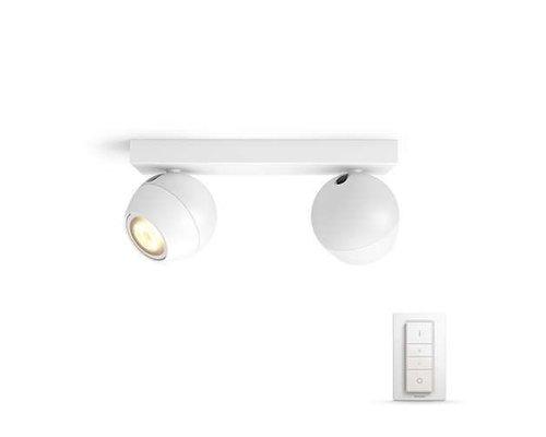 Philips Hue HUE Buckram White Ambiance opbouwspot LED 2x5,5W 250lm + switch wit