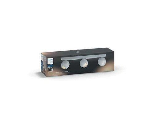 Philips Hue HUE Buckram White Ambiance LED en saillie 3x5.5W 250lm + interrupteur blanc