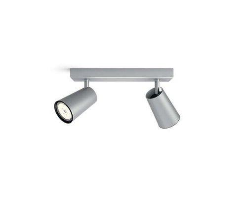 Philips Paisley opbouwspot aluminium 2-lichts
