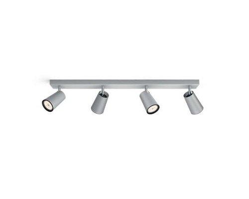 Philips Paisley spot apparent aluminium 4 lumières