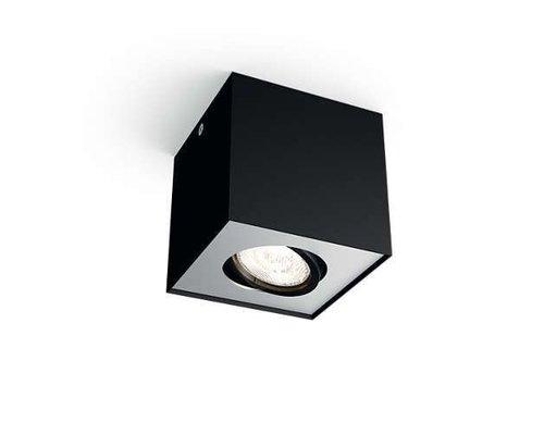 Philips Box opbouwspot zwart 1-licht