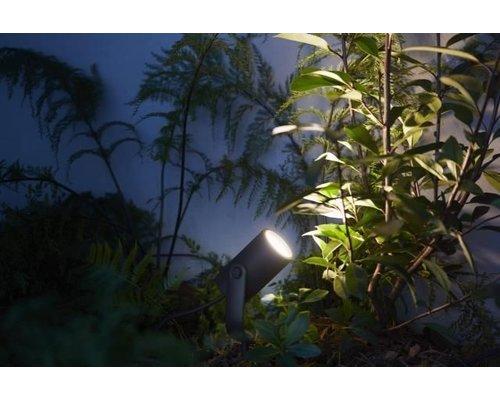 Philips Hue HUE Lily White & Color Ambiance piquet de terre LED 8W 640lm noir kit de base (3)