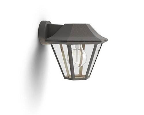 Philips Curassow wandlamp geborsteld bruin
