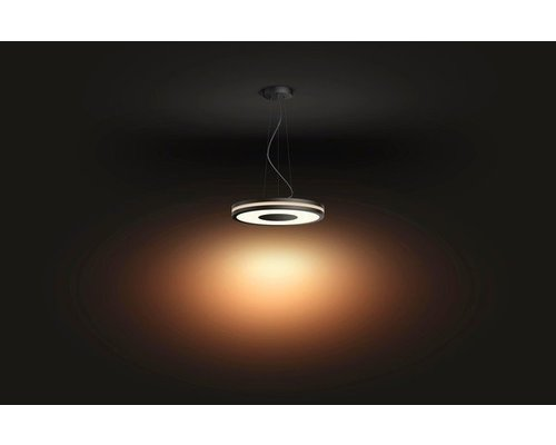 Philips Hue Lampe suspendue HUE Being White Ambiance LED 1x39W / 3000lm noir + interrupteur