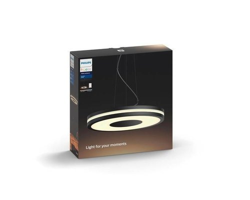 Philips Hue HUE Being White Ambiance hanglamp LED 1x39W/3000lm zwart + switch