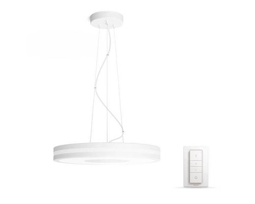 Philips Hue Lampe suspendue HUE Being White Ambiance LED 1x39W / 3000lm blanc + interrupteur