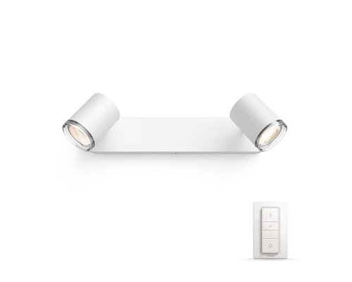 Philips Hue Barre de brillance HUE White Ambiance Adore IP44 LED 2xGU10 5.5W / 250lm blanc
