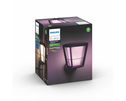 Philips Hue Hue Econic White and Color Ambiance applique murale up LED 15W 1150lm noir