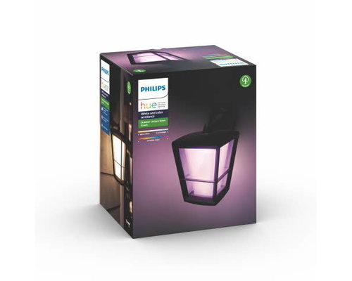Philips Hue Hue Econic White and Color Ambiance wandlamp down LED 15W 1150lm zwart