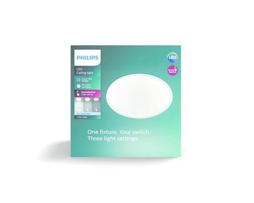 Philips Super Slim wand/plafondlamp LED 1x18W/1700lm 4000K wit