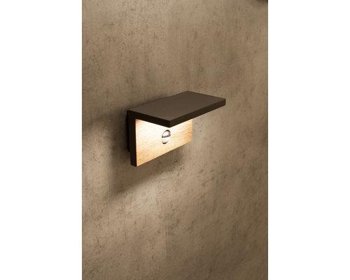 Light Gallery Applique Ruka IP54 980lm senseur bois anthracite