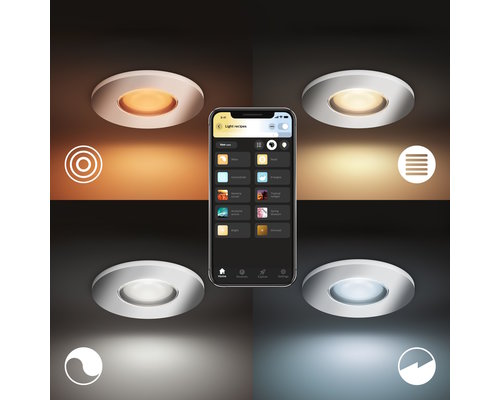 Philips Hue HUE Adore BT Spot encastrable LED GU10 1x5W IP44 chrome