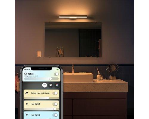 Philips Hue Hue Adore BT éclairage de miroir LED 40W / 3000lm IP44 chrome