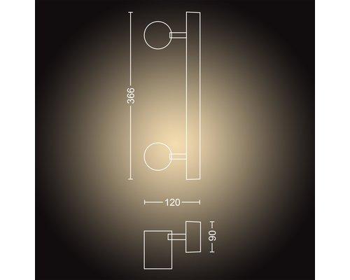 Philips Hue Hue Adore BT spot apparent LED GU10 2x5W IP44 blanc