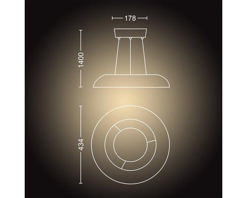 Philips Hue HUE AMAZE BT suspension LED 1x33.5W noir