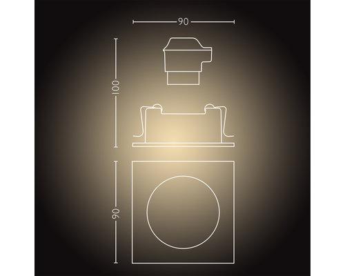 Philips Hue HUE Milliskin BT Spot encastrable LED GU10 5W carré blanc