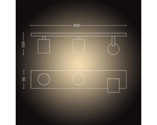 Philips Hue HUE Runner BT opbouwspot LED GU10 3x5W wit