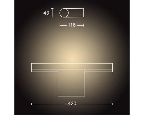 Philips Hue HUE Adore BT éclairage de miroir LED 13W 1050lm IP44 blanc